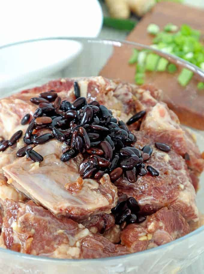 pork ribs marinated with black bean sauce