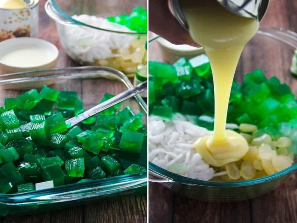 making buko pandan salad