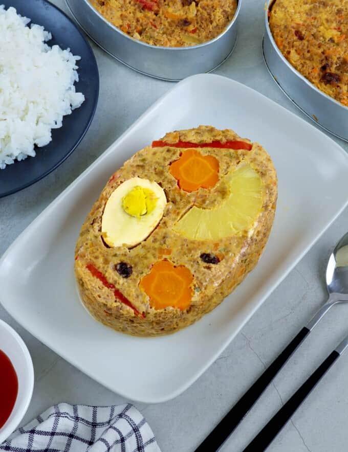 marikina meatloaf on a serving platter