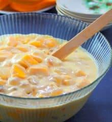 Mango Bango dessert in a large bowl