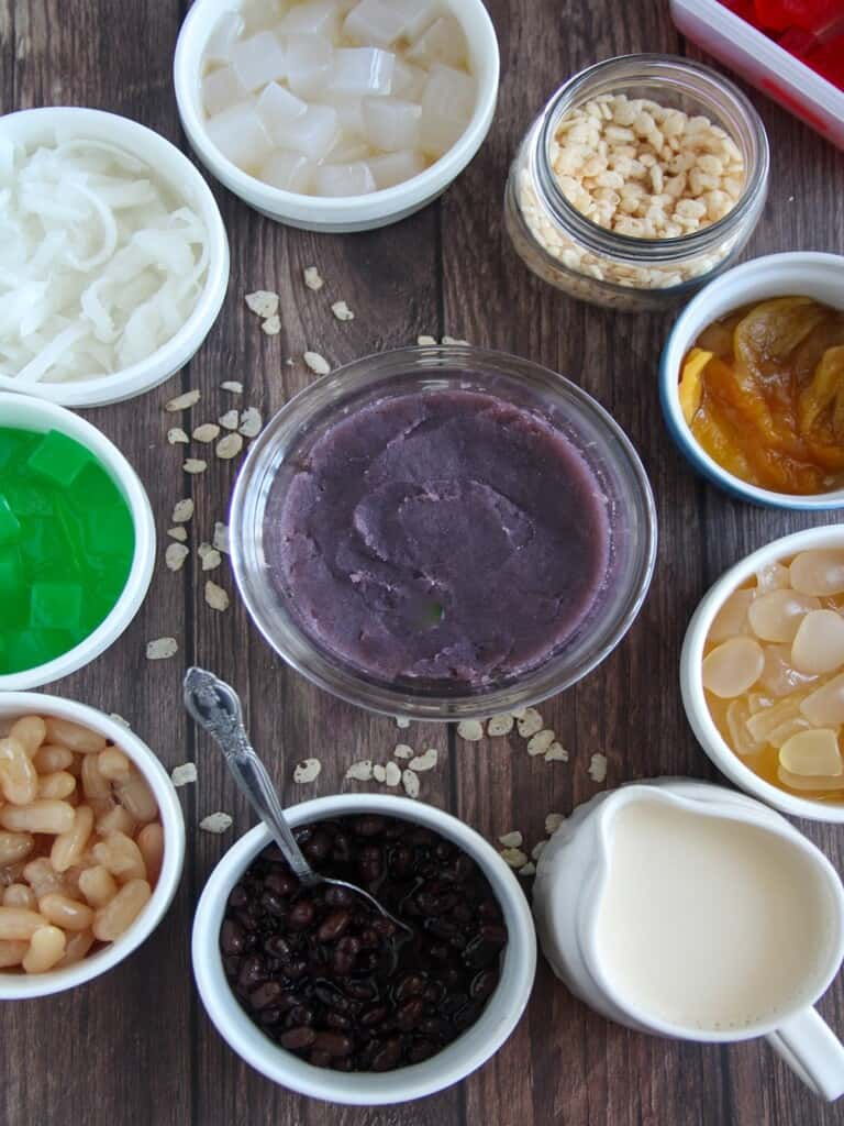 ingredients for halo-halo