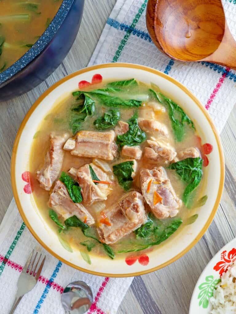 Kinamatisang Baboy in a serving bowl
