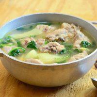tinilang manok in a cooking pot
