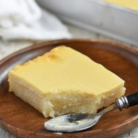 Cassava Cake with Custard Topping