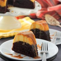 Impossible Chocolate Flan Cake